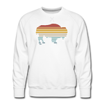 Men's Premium Retro Sweatshirt - white