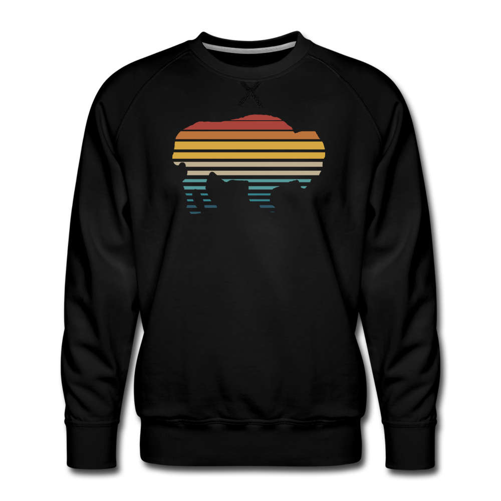 Men's Premium Retro Sweatshirt - black