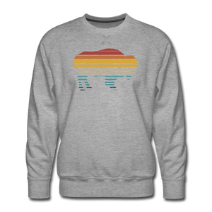 Men's Premium Retro Sweatshirt - heather gray