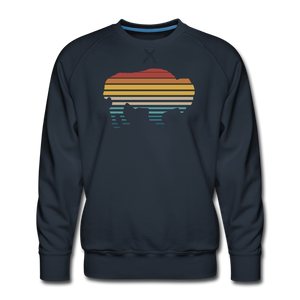 Men's Premium Retro Sweatshirt - navy