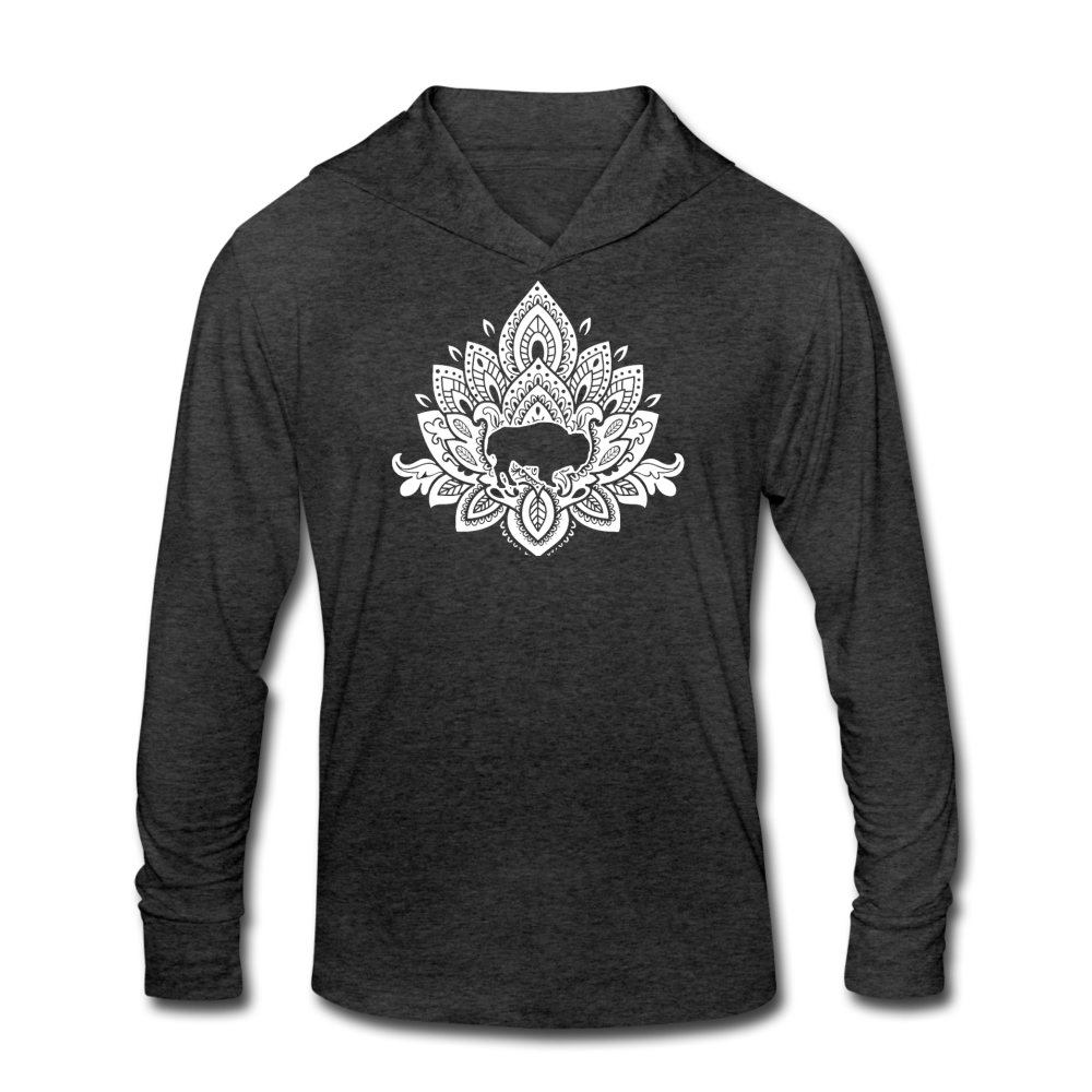Buffalotus Tri-Blend Hoodie Shirt - heather black