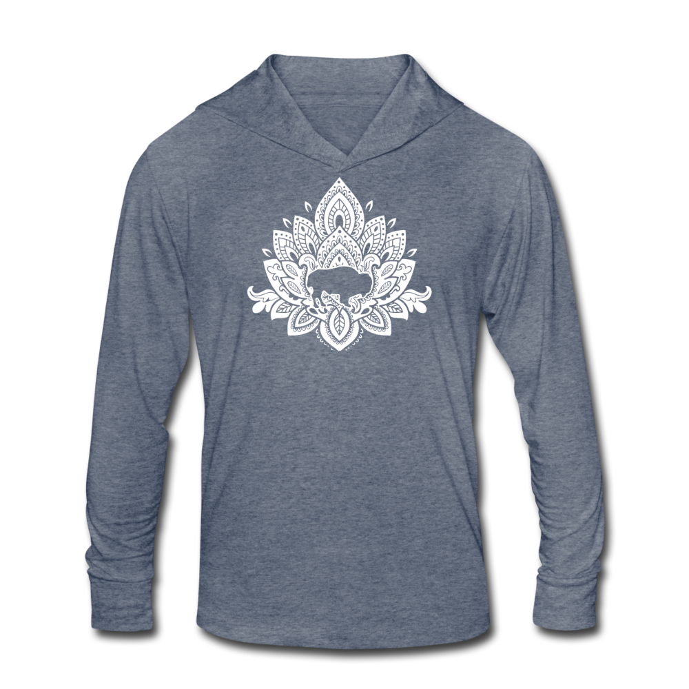 Buffalotus Tri-Blend Hoodie Shirt - heather blue