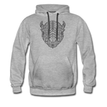 Men's Geo Premium Hoodie - heather gray
