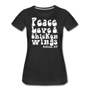 Women's Wings Premium T-Shirt - black
