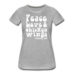 Women's Wings Premium T-Shirt - heather gray