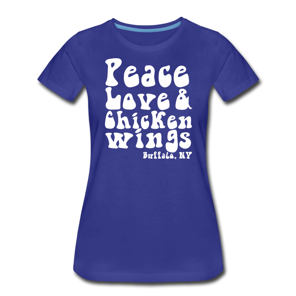 Women's Wings Premium T-Shirt - royal blue