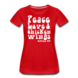 Women's Wings Premium T-Shirt - red