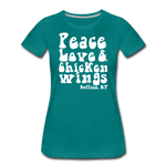 Women's Wings Premium T-Shirt - teal