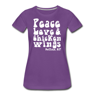 Women's Wings Premium T-Shirt - purple