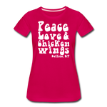 Women's Wings Premium T-Shirt - dark pink