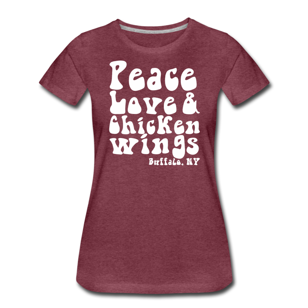 Women's Wings Premium T-Shirt - heather burgundy