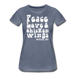 Women's Wings Premium T-Shirt - heather blue