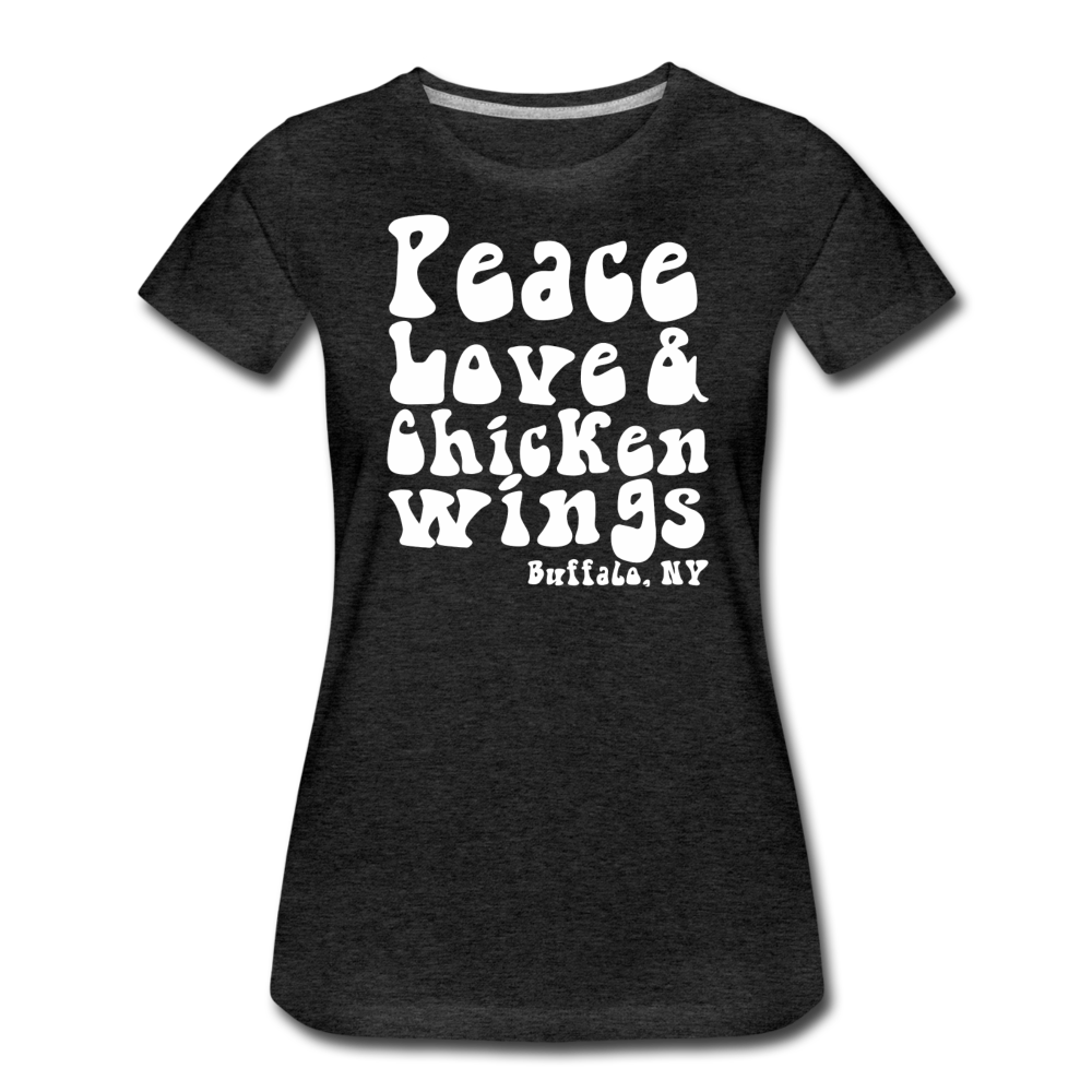 Women's Wings Premium T-Shirt - charcoal gray