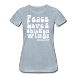 Women's Wings Premium T-Shirt - heather ice blue