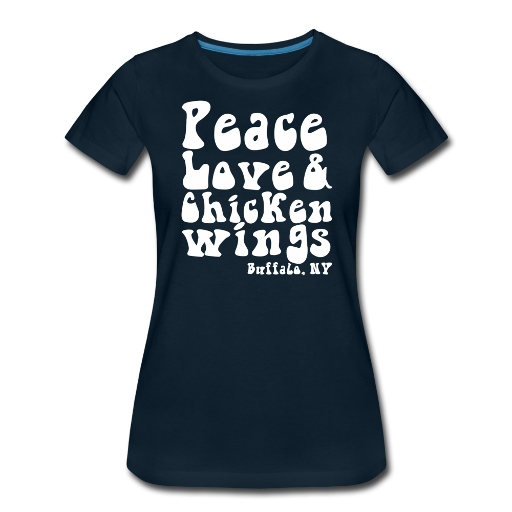 Women's Wings Premium T-Shirt - deep navy