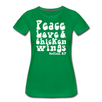 Women's Wings Premium T-Shirt - kelly green