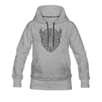 Women's Geo Premium Hoodie - heather gray