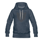 Women's Geo Premium Hoodie - heather denim