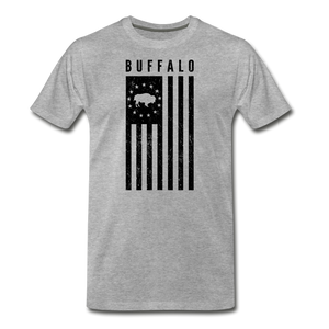 Men's Buffalo USA Premium T-Shirt - heather gray