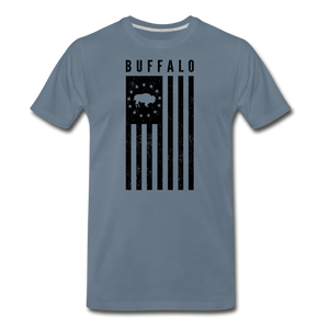 Men's Buffalo USA Premium T-Shirt - steel blue