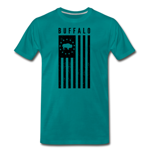 Men's Buffalo USA Premium T-Shirt - teal