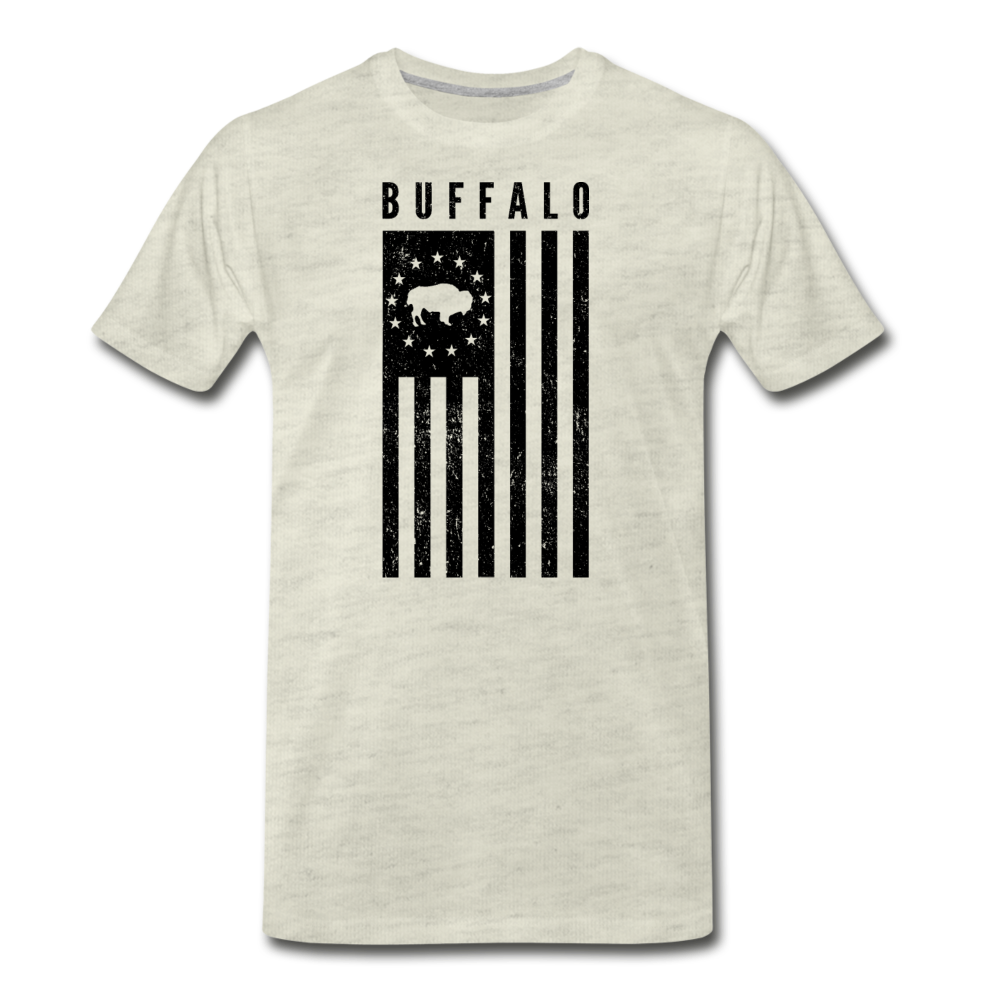 Men's Buffalo USA Premium T-Shirt - heather oatmeal