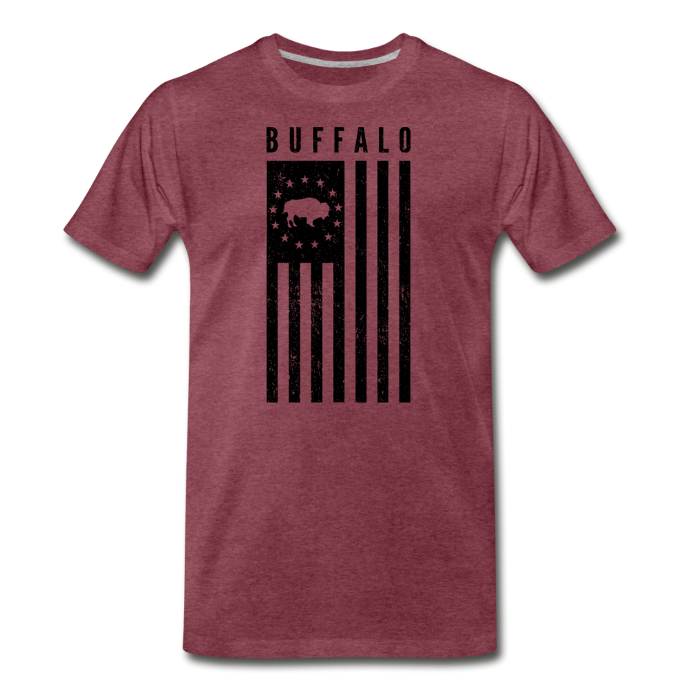 Men's Buffalo USA Premium T-Shirt - heather burgundy