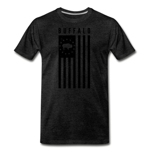 Men's Buffalo USA Premium T-Shirt - charcoal gray