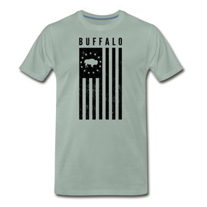 Men's Buffalo USA Premium T-Shirt - steel green