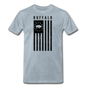 Men's Buffalo USA Premium T-Shirt - heather ice blue