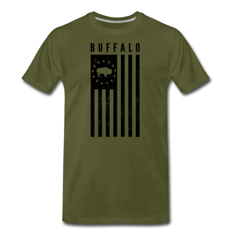Men's Buffalo USA Premium T-Shirt - olive green