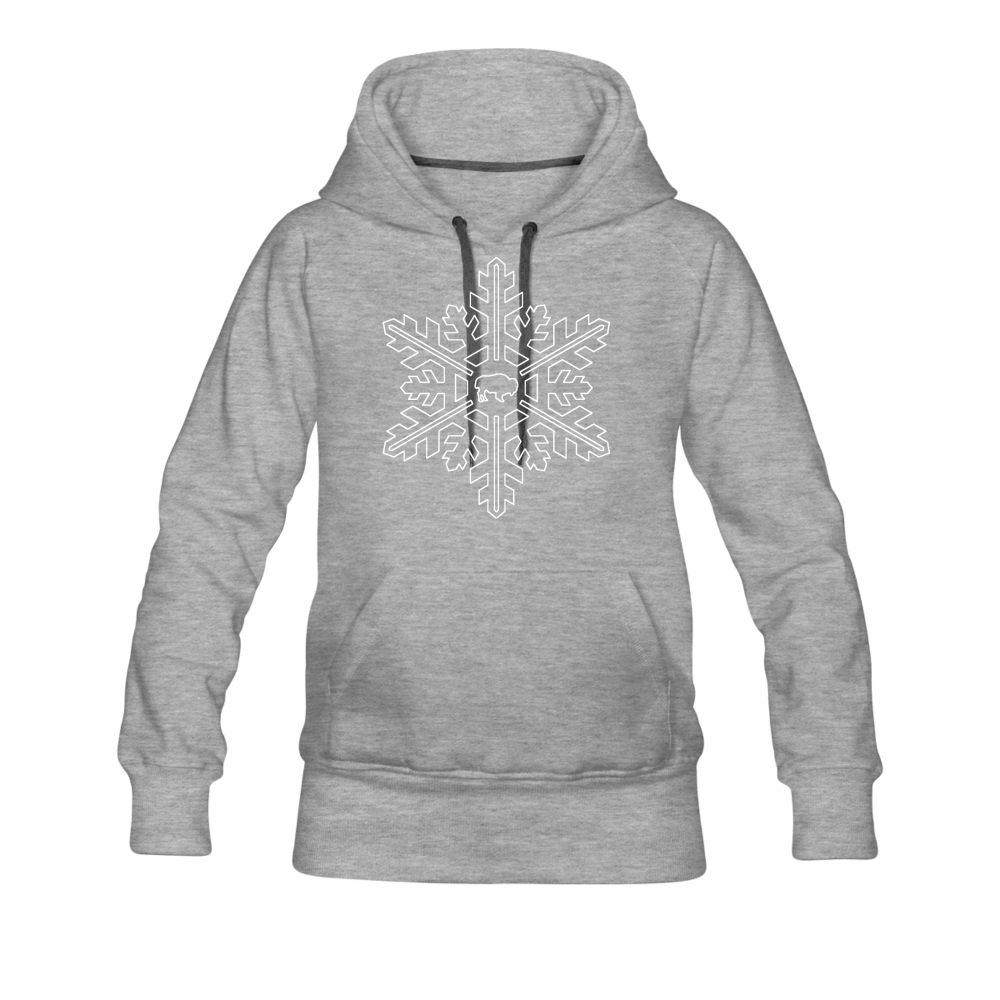 Women's Snowflake Premium Hoodie - heather gray