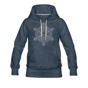 Women's Snowflake Premium Hoodie - heather denim