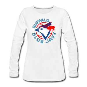 Women's Buffalo Blue Jays Premium Long Sleeve Shirt - white