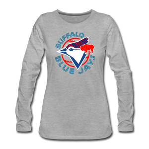 Women's Buffalo Blue Jays Premium Long Sleeve Shirt - heather gray