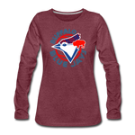 Women's Buffalo Blue Jays Premium Long Sleeve Shirt - heather burgundy