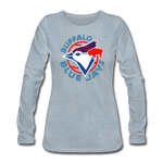 Women's Buffalo Blue Jays Premium Long Sleeve Shirt - heather ice blue