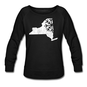 Women's Snow Crewneck Sweatshirt - black
