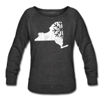 Women's Snow Crewneck Sweatshirt - heather black