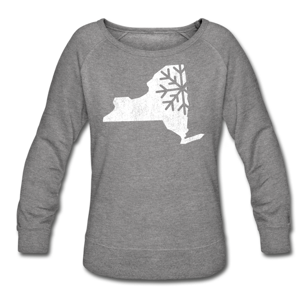 Women's Snow Crewneck Sweatshirt - heather gray