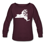 Women's Snow Crewneck Sweatshirt - plum