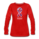 Women's Buffalo Strong Premium Long Sleeve T-Shirt - red