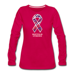 Women's Buffalo Strong Premium Long Sleeve T-Shirt - dark pink