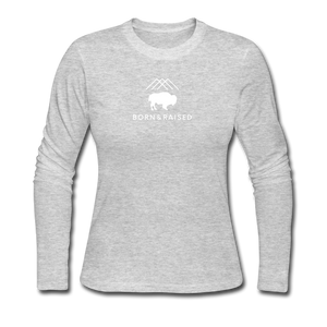 B&R Women's Long Sleeve Jersey T-Shirt - gray