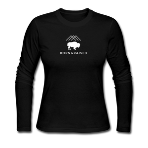 B&R Women's Long Sleeve Jersey T-Shirt - black