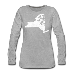 Women's Snow Premium Long Sleeve T-Shirt - heather gray