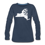 Women's Snow Premium Long Sleeve T-Shirt - navy