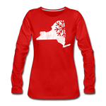 Women's Snow Premium Long Sleeve T-Shirt - red