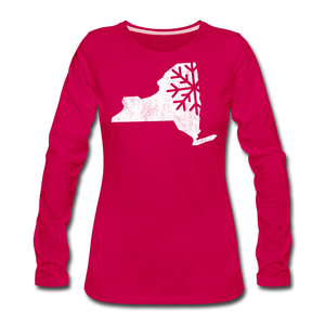 Women's Snow Premium Long Sleeve T-Shirt - dark pink