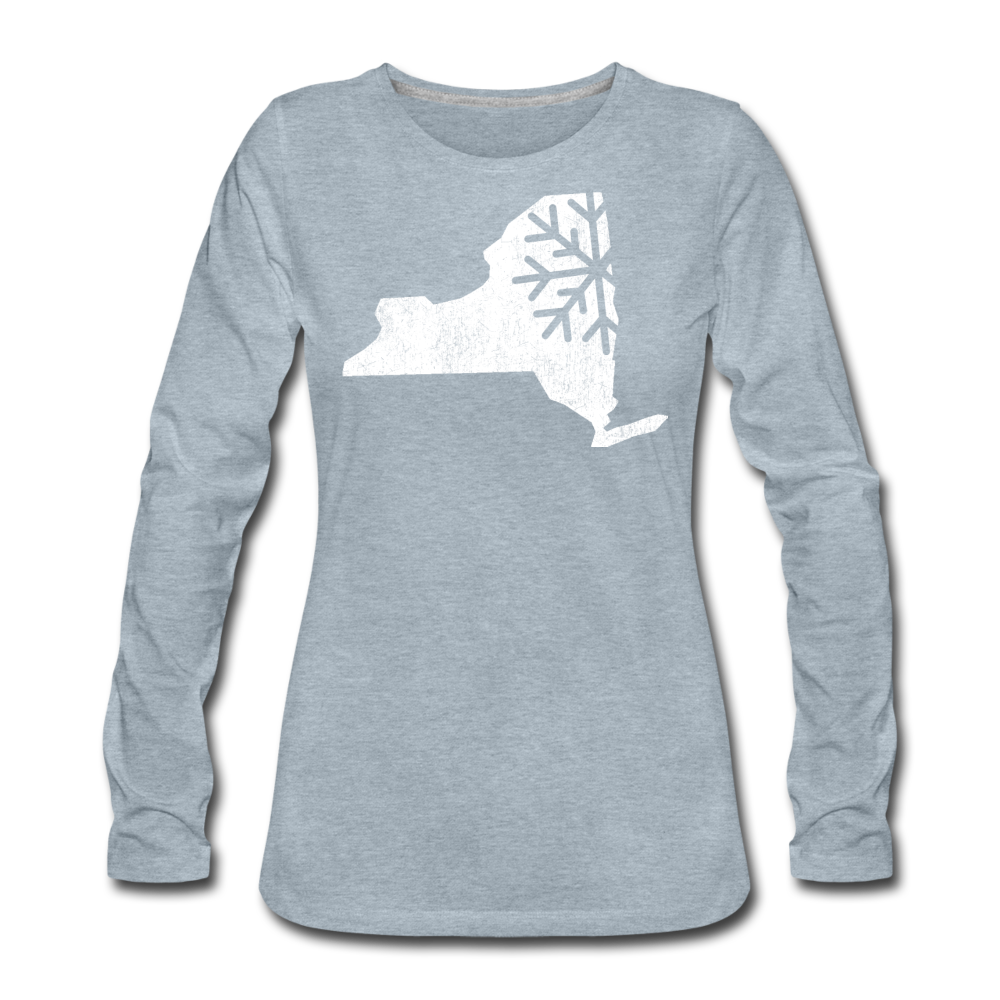 Women's Snow Premium Long Sleeve T-Shirt - heather ice blue
